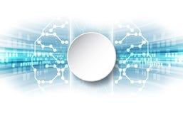 Vector Abstract human brain futuristic circuit board, Illustration high digital technology blue color. Innovation background website Stock Photos