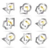 Vector abstract icon Royalty Free Stock Image