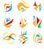 Vector abstract icons. Stock Images