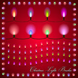 Vector abstract illustration of colorful lights on Royalty Free Stock Images