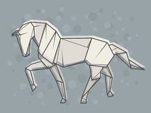 Vector abstract illustration horse. Stock Photography