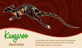 Vector abstract illustration. Kangaroo. Royalty Free Stock Image