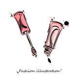 Vector abstract illustration of lip gloss Royalty Free Stock Photo