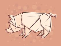 Vector abstract illustration pig. Stock Photography