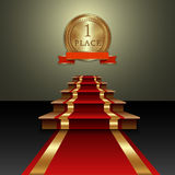 Vector abstract illustration of red carpet and Stock Image