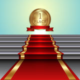 Vector abstract illustration of red carpet on Royalty Free Stock Image