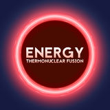 Vector abstract illustration of thermonuclear fusion plasma current flows in toroidal field. Tokamak or stellator inside plasma flow. Red glow of energy Royalty Free Stock Photography