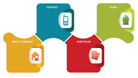 Vector abstract infographic labels with icons Royalty Free Stock Photo