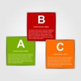 Vector abstract infographic. Modern design templat Royalty Free Stock Photos