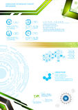 Vector abstract infographic template tech modern innovation concept Stock Images