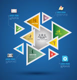 Vector abstract infographics. Stock Images
