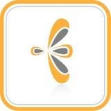 Vector abstract internet icon. Orange set. Simply change Stock Photo