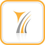 Vector abstract internet icon. Orange set. Simply change. Other abstract icons you can see in my portfolio Stock Image