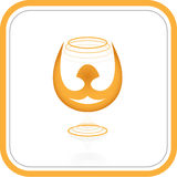 Vector abstract internet icon. Orange set. Simply change. Other abstract icons you can see in my portfolio Stock Images