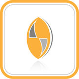 Vector abstract internet icon. Orange set. Simply change. Other abstract icons you can see in my portfolio Stock Photo