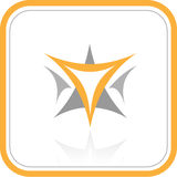 Vector abstract internet icon. Orange set. Simply change. Other abstract icons you can see in my portfolio Royalty Free Stock Photo