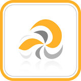 Vector abstract internet icon. Orange set. Simply change. Other abstract icons you can see in my portfolio Royalty Free Stock Photos