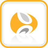 Vector abstract internet icon. Orange set. Simply change. Other abstract icons you can see in my portfolio Royalty Free Stock Images