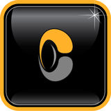 Vector abstract internet icon. Orange set. Simply change. Other abstract icons you can see in my portfolio Stock Photos