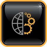Vector abstract internet icon Royalty Free Stock Photos