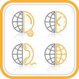 Vector abstract internet icons Royalty Free Stock Photo