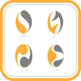 Vector abstract internet icons. Orange set. Simply change. Other abstract icons you can see in my portfolio Stock Photo