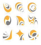 Vector abstract internet icons. Orange set. Simply change. Other abstract icons you can see in my portfolio Royalty Free Stock Photos