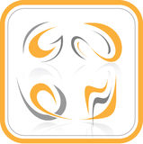 Vector abstract internet icons. Orange set. Simply change. Other abstract icons you can see in my portfolio Stock Image