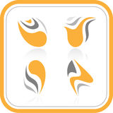 Vector abstract internet icons. Orange set. Simply change. Other abstract icons you can see in my portfolio Stock Images