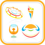 Vector abstract internet icons Royalty Free Stock Images