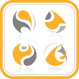 Vector abstract internet icons. Orange set. Simply change. Other abstract icons you can see in my portfolio Stock Photos