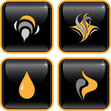 Vector abstract internet icons vector illustration