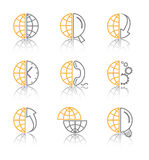 Vector abstract internet icons stock illustration