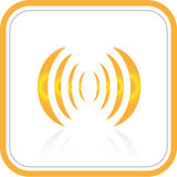 Vector abstract Internet-pictogram Royalty-vrije Illustratie