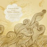 Vector abstract invitation card with abstract wave. Template wav Stock Image