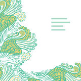 Vector abstract invitation card with green abstract wave. Stock Images