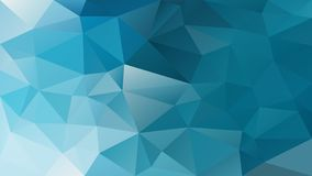 Vector irregular polygon background - triangle low poly pattern - cerulean blue turquoise color. Vector abstract irregular polygon background - triangle low poly royalty free illustration