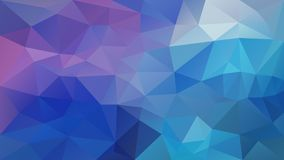 Vector irregular polygon background - triangle low poly pattern - pastel blue purple violet color. Vector abstract irregular polygon background - triangle low royalty free illustration
