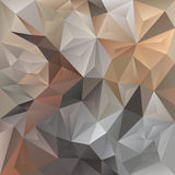 Vector abstract irregular polygon background triangle pattern in light beige and gray color Stock Photography