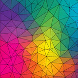 Vector abstract irregular polygon background Royalty Free Stock Photography
