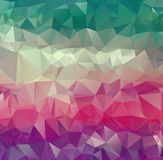 Vector abstract irregular polygon background with a triangular pattern in full color.  royalty free illustration
