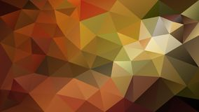 Vector irregular polygonal background - triangle low poly pattern - autumnal fall color - orange, rusty red, brown, ochre. Vector abstract irregular polygonal royalty free illustration