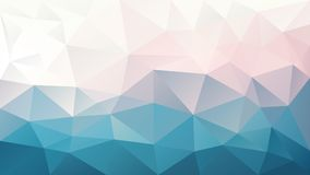 Vector irregular polygonal background - triangle low poly pattern - blue pink white color. Vector abstract irregular polygonal background - triangle low poly Stock Photos