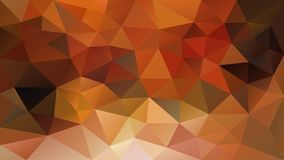 Vector irregular polygonal background - triangle low poly pattern - fall autumn color yellow, orange, ochre, rusty red, k. Vector abstract irregular polygonal stock illustration