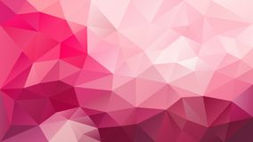 Vector irregular polygonal background - triangle low poly pattern - vibrant hot pink magenta color. Vector abstract irregular polygonal background - triangle low vector illustration