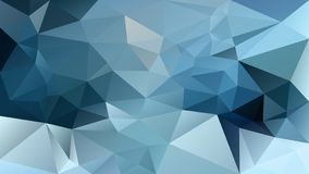 Vector irregular polygonal background - triangle low poly pattern - winter blue dark and light color. Vector abstract irregular polygonal background - triangle stock illustration