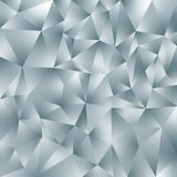 Vector irregular polygonal square background - triangle low poly pattern - light slate gray color with diamond shine. Vector abstract irregular polygonal square vector illustration