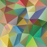 Vector irregular polygonal square background - triangle low poly pattern - pastel spring variegated color. Vector abstract irregular polygonal square background Royalty Free Stock Photos