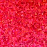 Red vector abstract irregular triangle background template. Design stock illustration