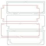 Vector abstract kader van de verbindende installaties Royalty-vrije Stock Afbeelding